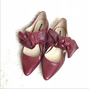 Zara Basic Bow Flats Pointed Toe